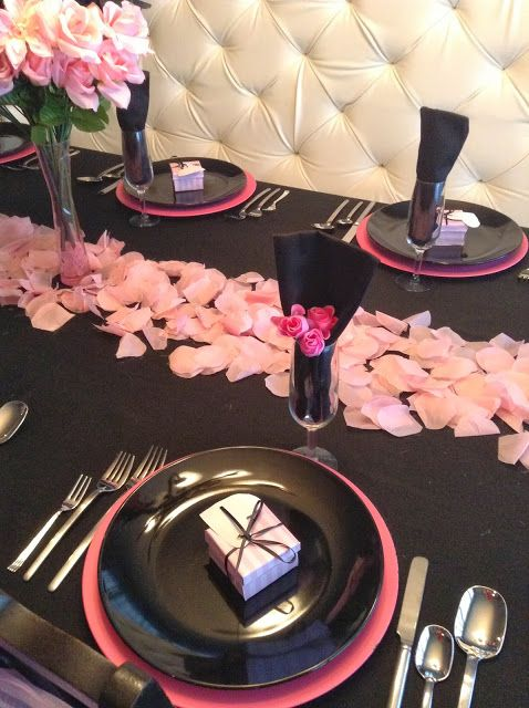 A Very Victoria Valentine's!  Victoria's Secret themed Tablescape. So fun for a gal-pal party!