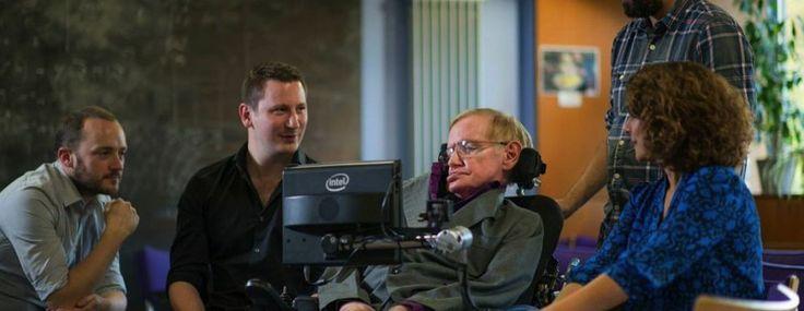 Professor Stephen Hawking's speedy new Intel speech system is built on SwiftKey.