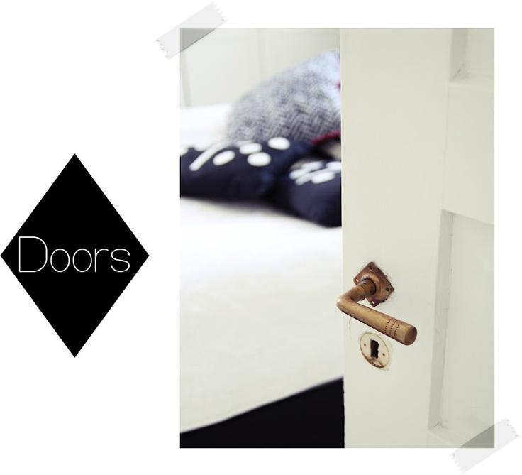 door with beautiful handle