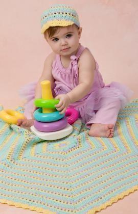 Häkelmuster für Sechseckige Babydecke