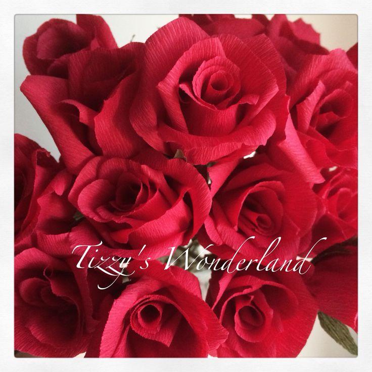 Crepe paper roses! Rose di carta crespa!