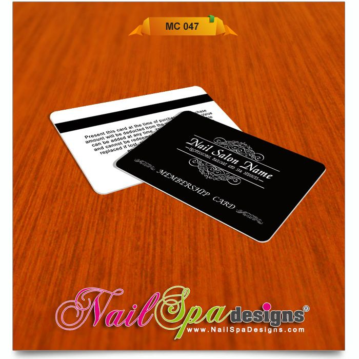 Membership Card Template For Nail Salon. Visit  Www.NailSpaDesigns.com/catalog For  Membership Cards Templates