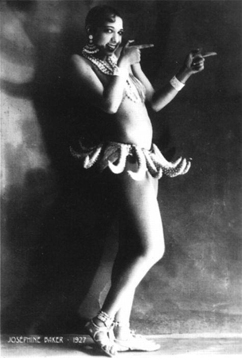 Josephine Baker in her famous banana skirt.
