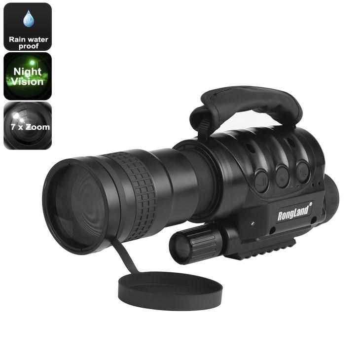 Rongland NV-760D Night Vision Waterproof Monocular Camera- 7 x Zoom 16GB External Memory - Pick Pay Post