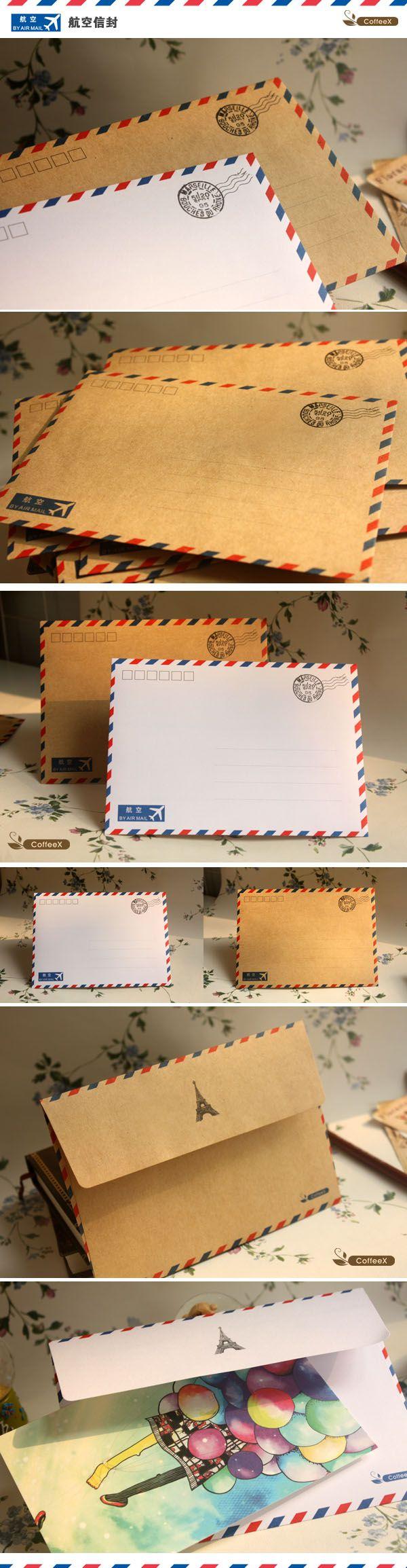 {} Авиапочта конверты Открытки защитной оболочки конверт конверты просто ZAKKA-Taobao