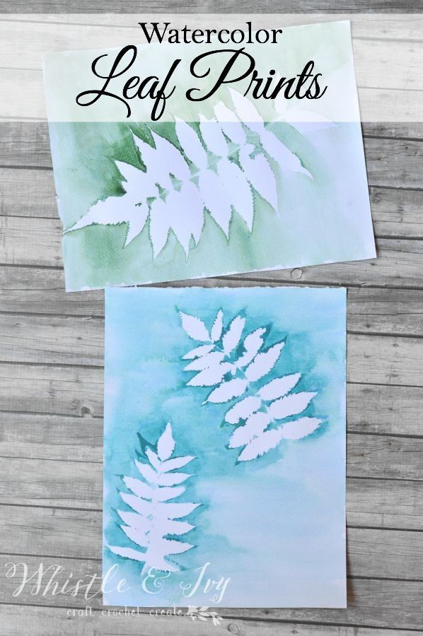 Watercolor Leaf Prints- These gorgeous prints are so easy to make, and your garden holds so many lovely possibilities!