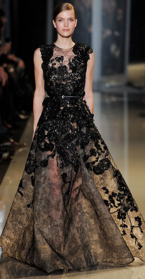 #-Elie Saab - Couture black dress-<3: