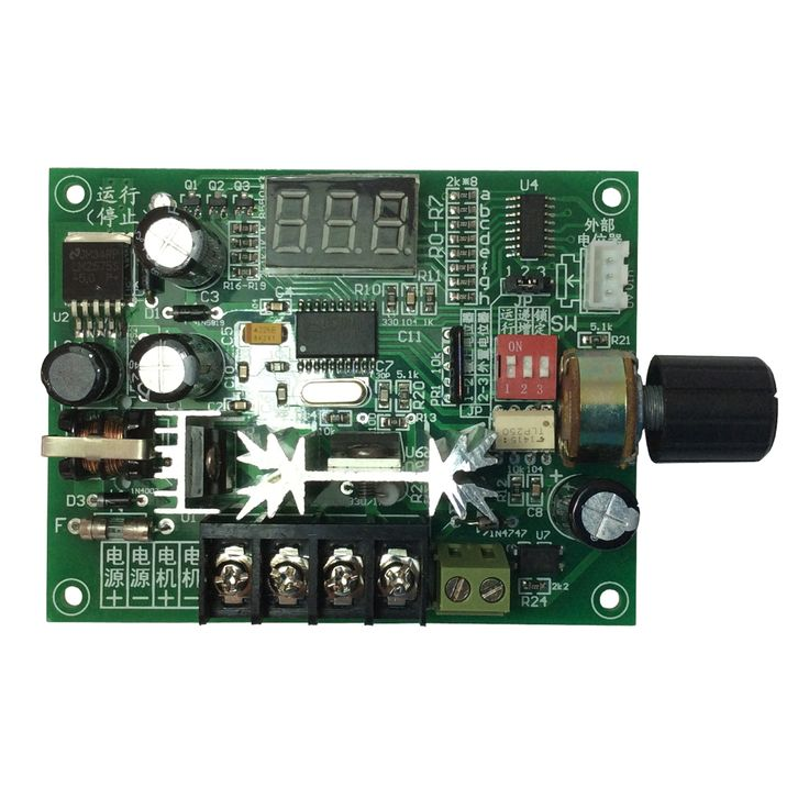 350W PWM Speed Controller with Digital tube,SCM 12V-42V Reversible Gear Motor Rotary Controller dc motor speed controller