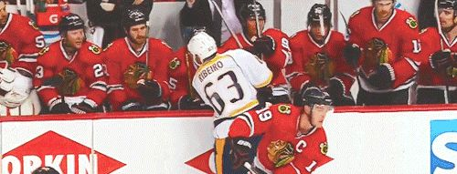 4/19/15 WCQF Blackhawks vs. Predators, Game 3: Andrew Shaw is, um, not popular with opposing teams