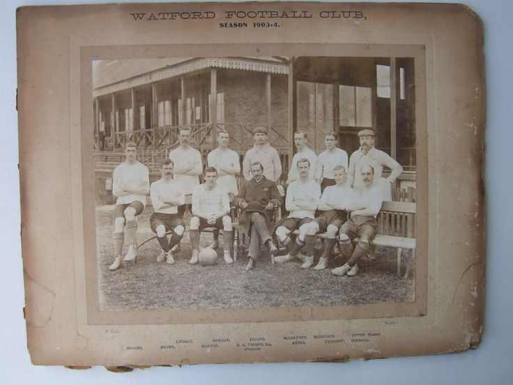 Watford FC 1903-1904 team, featuring Johnny Allgood