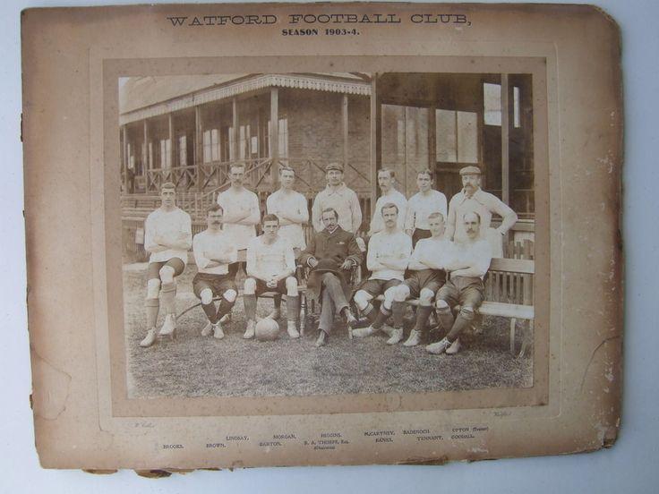 Watford FC 1903-1904 team, featuring Johnny Allgood