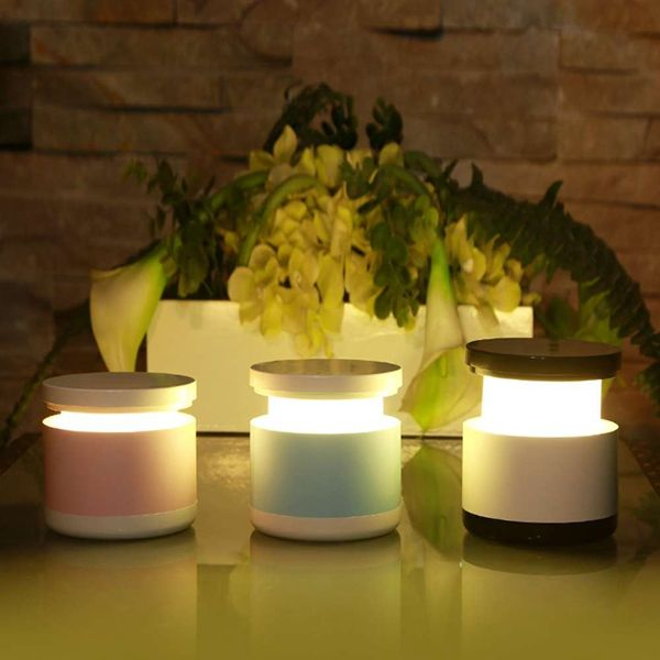 Creative Cylinder Shape Stretch Table Lamp USB Rechargeable LED Night Light Bedroom Beside