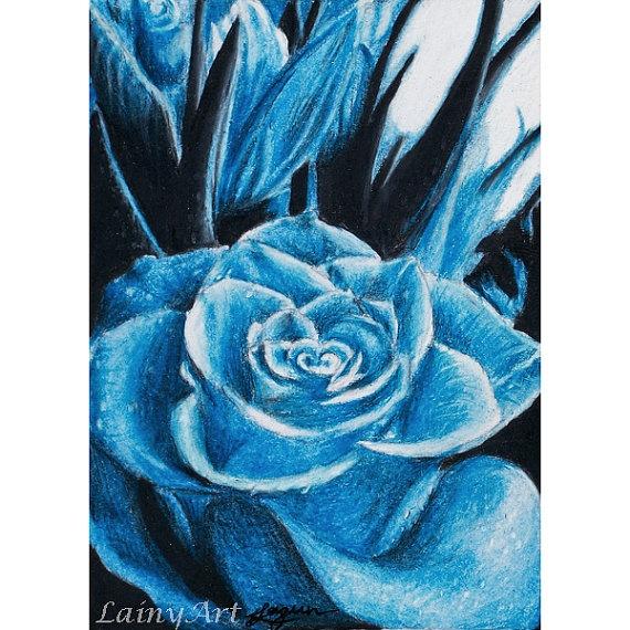 image of blue rose