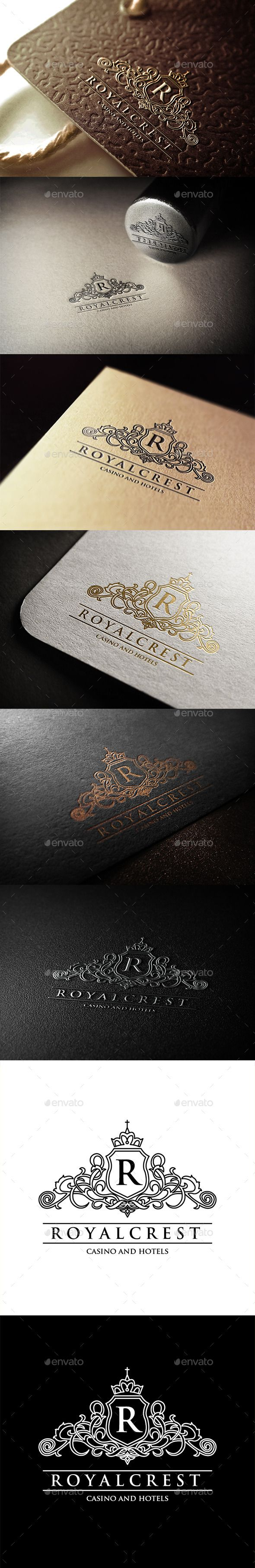 Royal Crest Hotels and Casino Logo Template #design #logotype Download: http://graphicriver.net/item/royal-crest-hotels-and-casino-logo/11257581?ref=ksioks