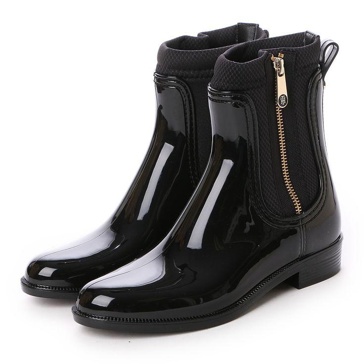 トミーヒルフィガー TOMMY HILFIGER ラバーソールアンクルブーツ -靴とファッションの通販サイト ロコンド