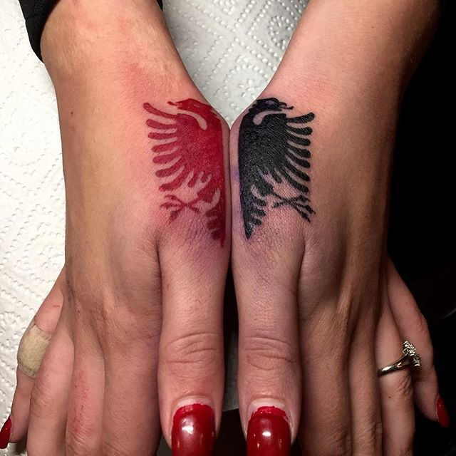 albanian eagle tattoos pictures to pin on pinterest tattooskid. Black Bedroom Furniture Sets. Home Design Ideas
