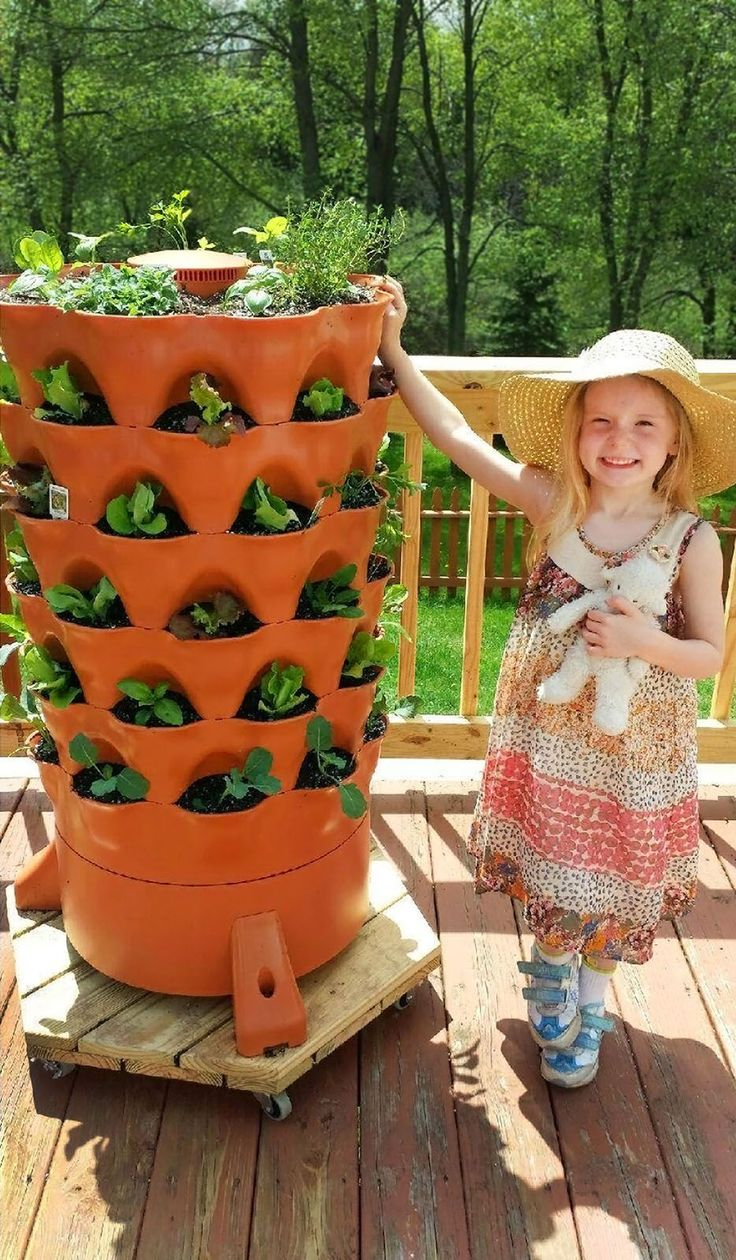 The Composting 50 Plant Accessible Vertical Garden Tower For Organic Patio  Vegetable Gardening By Garden Tower