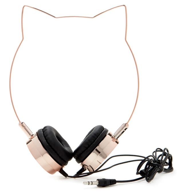 Cat ear headphones that are purrfect for listening to all your favorite…