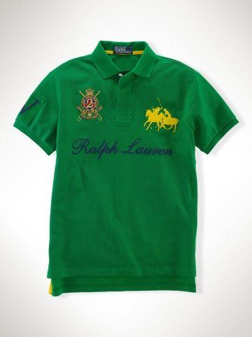 Cheap Ralplh-Lauren Dual Match Crest Polo Green In UK