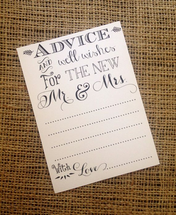 wedding advice and well wishes for mr mrs by seridoodlepaperco wedding extras in 2018 wedding advice wedding bridal