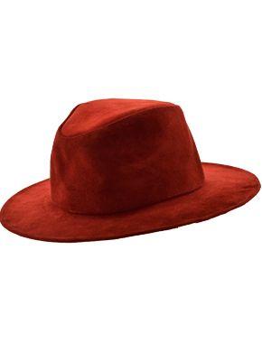 Sombrero Australiano Cuero Gamuzado