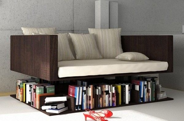 couch/book shelf
