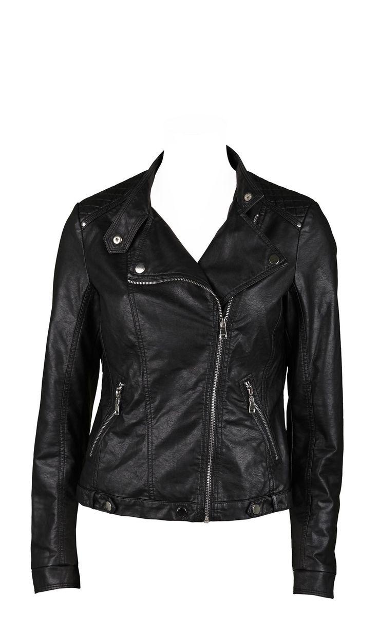KYBOU NOIR Perfecto,simili,l'indispensable pour un look rock,vendu 69,9€ sur www.depechmod.fr