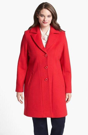 7a556470871 Kristen Blake Single Breasted Walking Coat (Plus Size) available at   Nordstrom  Women scoats
