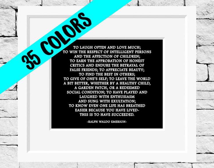 Ralph Waldo Emerson cotizaciones, citas de literatura, Emerson cotizaciones, éxito citar, aula cotizaciones, Emerson impresiones, impresiones inspiracional de IDefineMeProject en Etsy https://www.etsy.com/es/listing/227777115/ralph-waldo-emerson-cotizaciones-citas