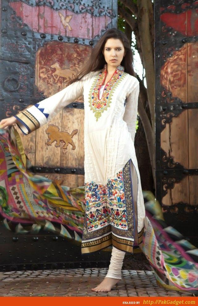 Firdous Lawn Dresses and Home Textile Designs