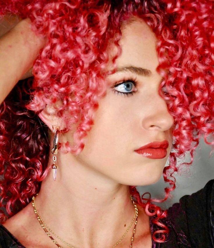 Natural Curly Hair Pink Hair Wax Change hair color