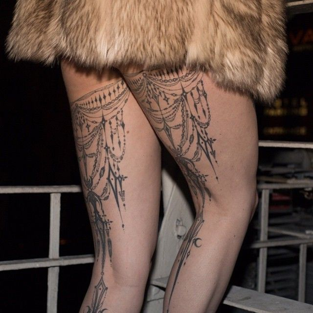 Such a great photo of @beju_ leg tattoos we did about a year ago @oldcrowtattoo #oldcrowtattoo as soon as i can get your sleeve done it will be time for major photo shoot;))) also if you've been tattooed by me please send or tag me in any of your actions shots so I can share... I believe the photo is by @girlmami