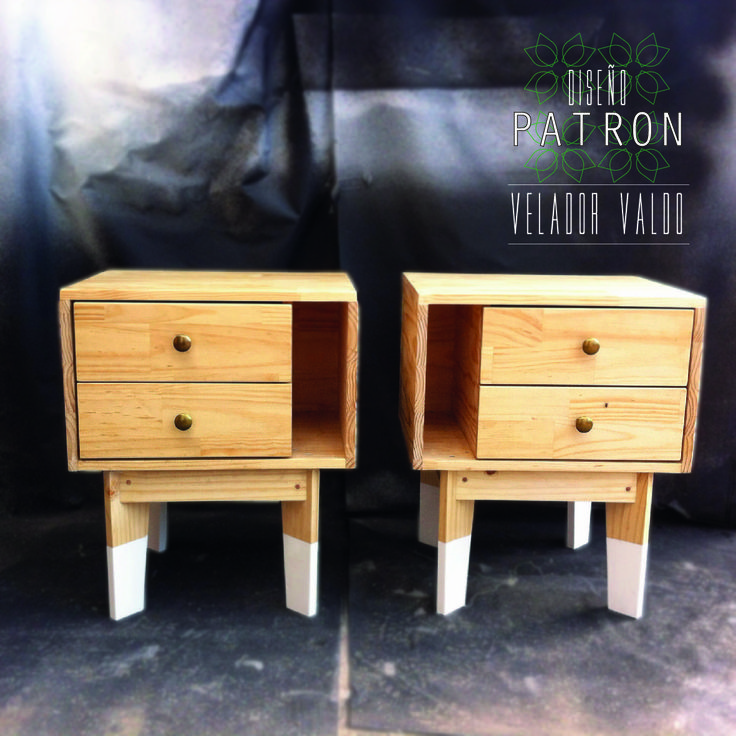 velador valdo. night table, side table chile, hand made https://www.facebook.com/disenopatron