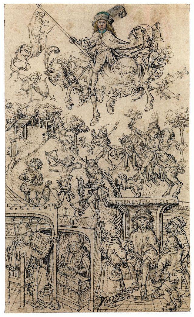 Hausbuch Wolfegg 12r Jupiter - Category:Mittelalterliches Hausbuch von Schloss Wolfegg – Wikimedia Commons
