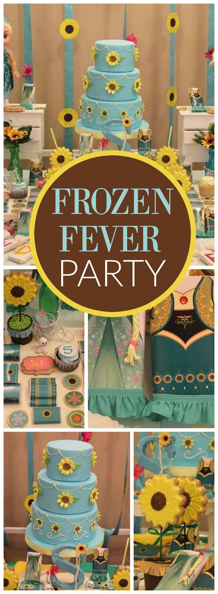 You have to see this amazing Frozen Fever summer party! See more party ideas at CatchMyParty.com!