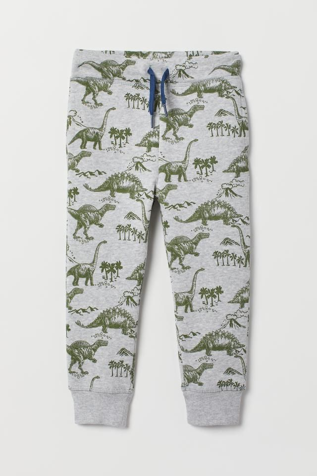 Pantalon De Chandal Gris Jaspeado Dinosaurios Ninos H M Es Pantalones De Chandal Ropa Para Ninas Sudadera Estampada