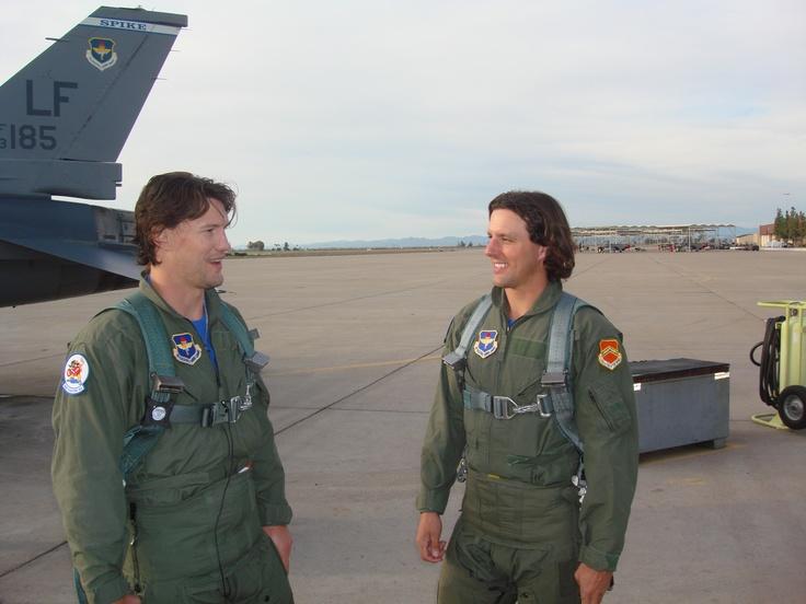 Shane Doan, Tyson Nash F-16 Co-Pilots for a day Luke Air Force base AZ