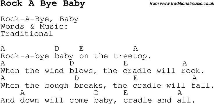 Lyrics Search rock a bye baby - SONGLYRICS.com
