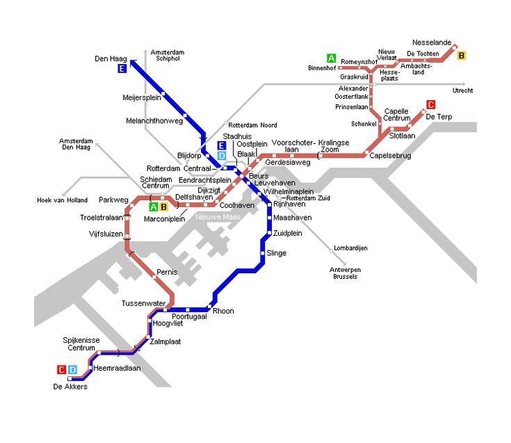 rotterdam subway map subways rotterdam metro map