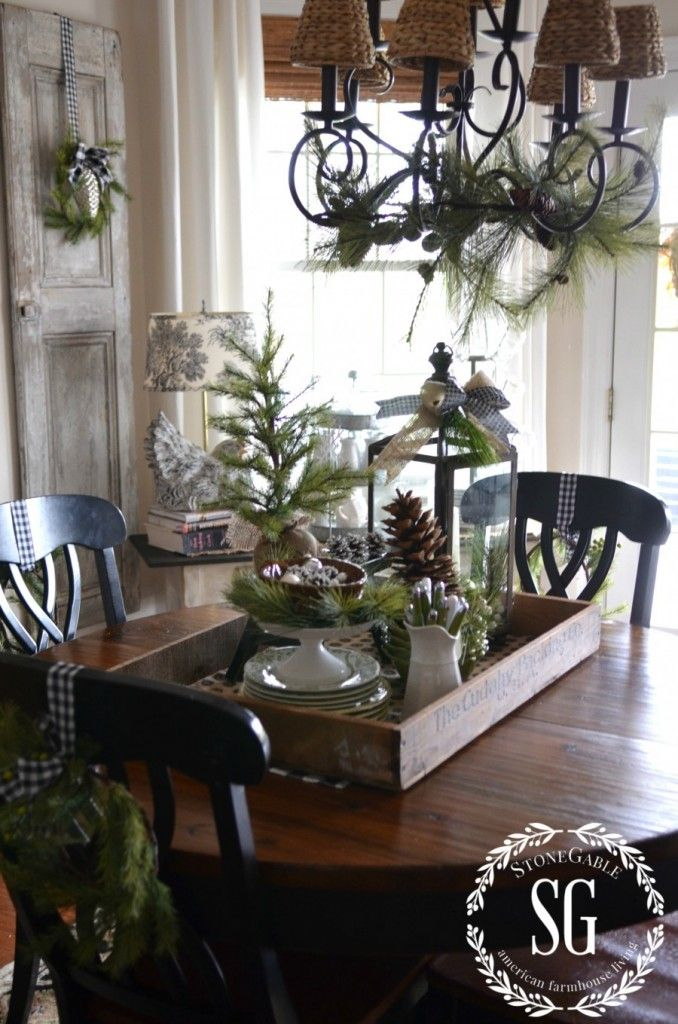 Winter Decor Ideas For The Dining Room Stonegable