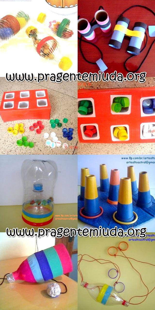 Jogos pedagógicos feitos com reciclagem | Pra Gente Miúda
