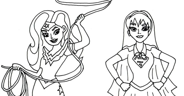 Download Coloring Pages Wonder Woman Pages In Pages: Free Printable Super Hero High Coloring Page For Wonder