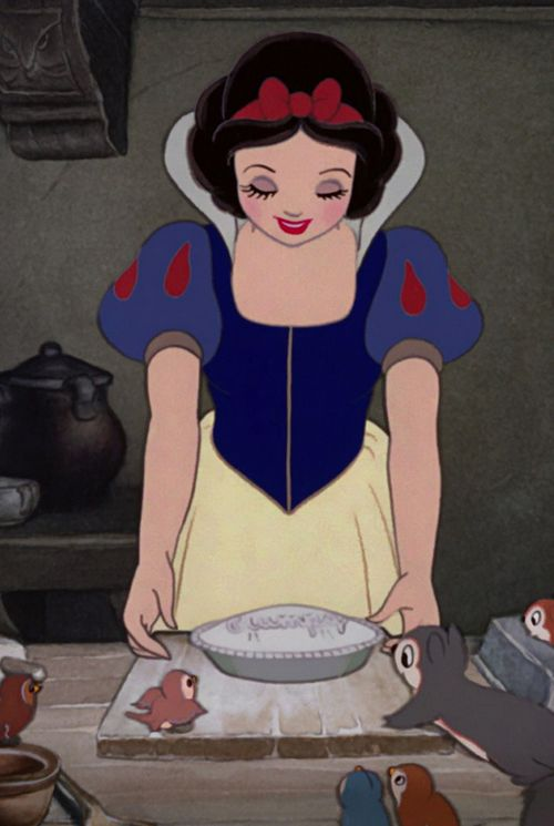 Gooseberry pie lovingly made by Snow White
