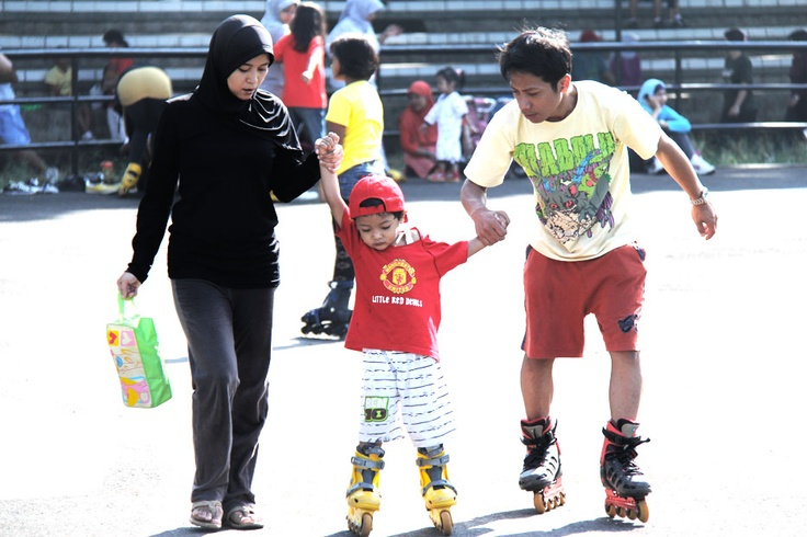 On a bright Bandung Weekend's morning, families would take their kids on fun sporting activities at Gelora Saparua field.