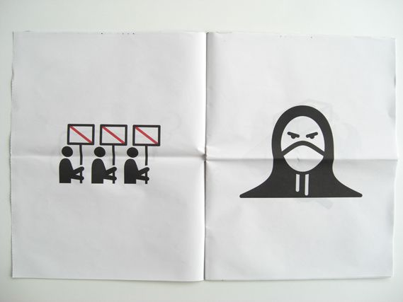 pictograms protest | ... , designer Stephen McCarthy covers the events, using pictograms