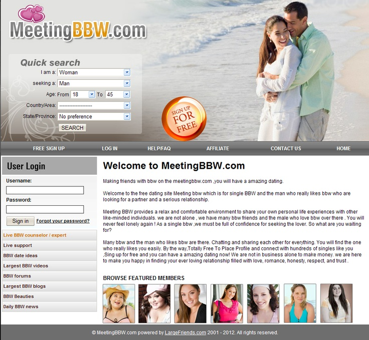 Bbw and average men dating site