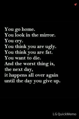 EVERY god damn day.......and each day i feel my self coming more and more close to ending it.....so close.