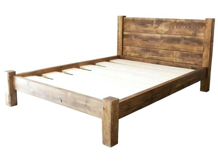 Simple Bed Frame Rustic Wood Bed Frame With Rustic Headboard