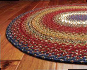 Home Spice Decor Braided Cotton And Wool Rugs. Country ...