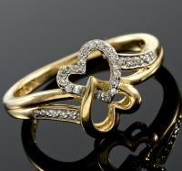 FANTASTIC !  (24 PCS) DIAMOND 10KT SOLID GOLD RING
